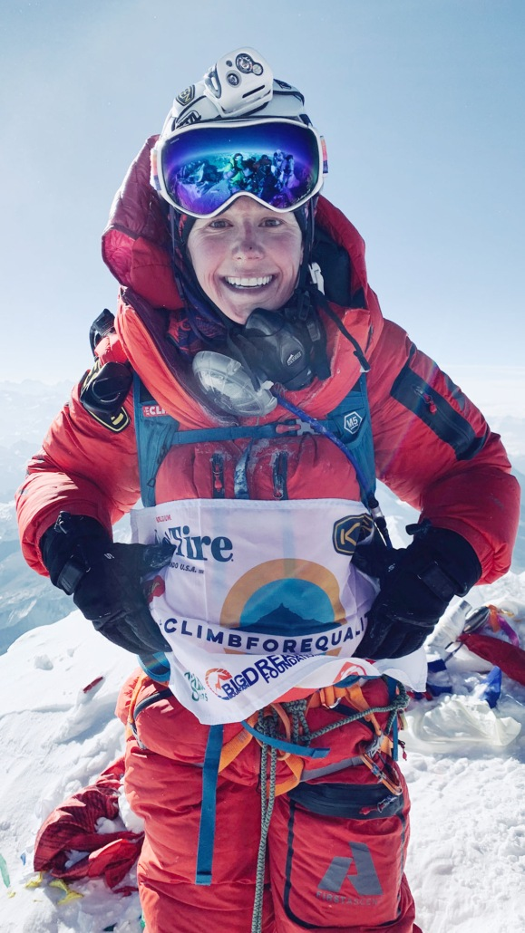 Caroline Gleich Stand on the top of Mount Everest for Her climb for Equality