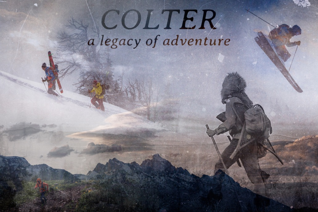 A movie poster for a film about John Colter in the Backcountry Film Festival